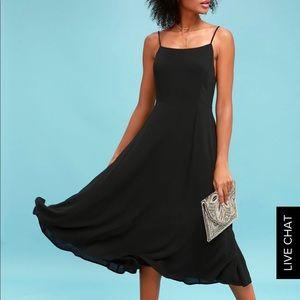 Midi black dress from Lulu's
